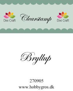 DIXI CRAFT – Stempel –Bryllup