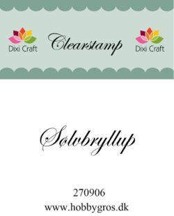 DIXI CRAFT – Stempel –Sølvbryllup