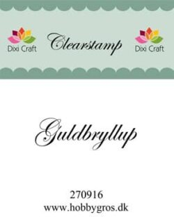DIXI CRAFT – Stempel – Guldbryllup