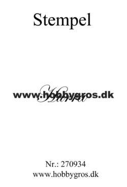 Hobby Gros – Stempel – Hurra
