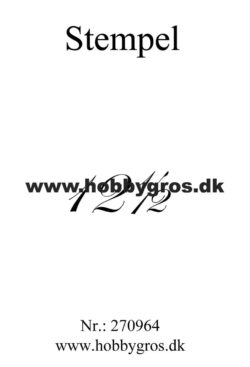 Hobby Gros – Stempel – 12½