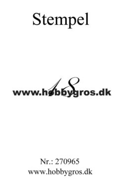 Hobby Gros – Stempel – 18
