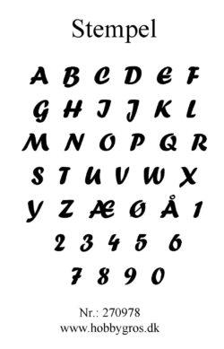 Hobby Gros – Stempel – Alfabet med tal
