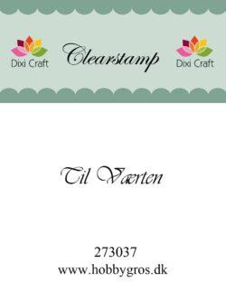 DIXI CRAFT – Stempel – Til værten