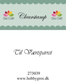 DIXI CRAFT – Stempel – Til værtsparret
