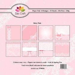 Mønsterpapir Baby Pink