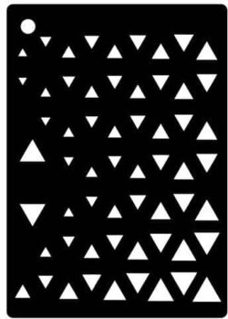 CREATIVE EXPRESSIONS MINI STENCIL CA. 10×6,5CM CEMSTRIANGLE