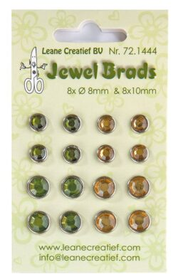 Leane Jewel Brads – Mos Green & Light Gold