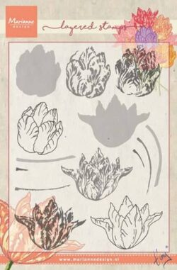 Marianne Design – Layerd Stamp – Tiny's Tulip