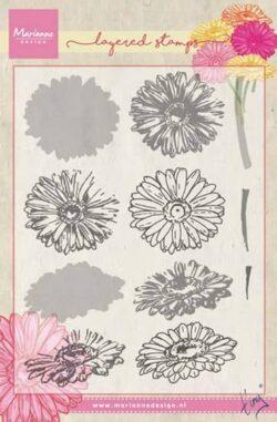 Marianne Design – Layerd Stamp – Tiny's Gebera