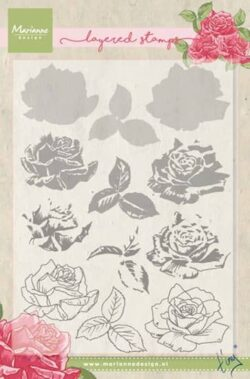 Marianne Design – Layerd Stamp – Tiny's Rose