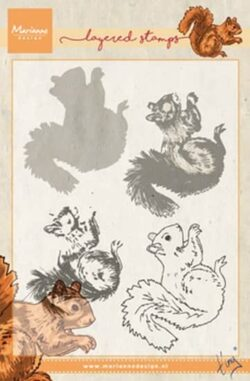 Marianne Design – Layerd Stamp – Tiny's Squirrel