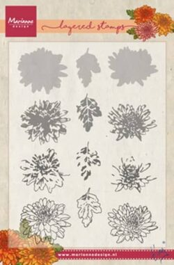 Marianne Design – Layerd Stamp – Tiny's Chrysant