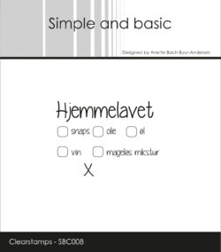 Simple and Basic Stempel – Hjemmelavet