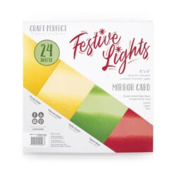 Craft Perfect – Paperpad – 15,24 x 15,24 cm – Festive Lights (Spejlkarton)