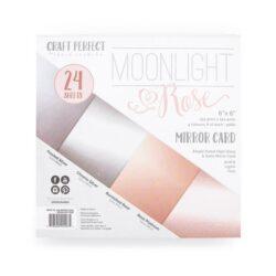 Craft Perfect Spejlkarton Moonlight rose 24 ark 15,24 x 15,24 cm