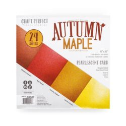 Craft Perfect – Paperpad – 15,24 x 15,24 cm – Autumn Maple (Perlemorskarton)