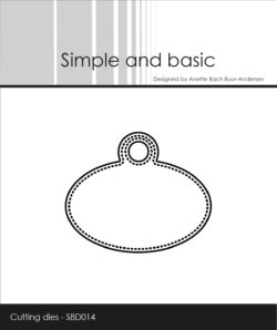 Simple and Basic die – Pierced Oval Tag
