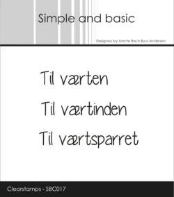 SIMPLE AND BASIC STEMPEL – Til værten