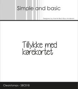 SIMPLE AND BASIC STEMPEL – Tillykke med kørekortet
