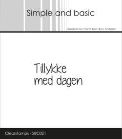 SIMPLE AND BASIC STEMPEL – Tillykke med dagen