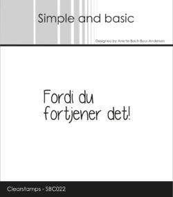 SIMPLE AND BASIC STEMPEL – Fordi du fortjener det!