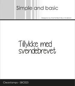 SIMPLE AND BASIC STEMPEL – Tillykke med svendebrevet