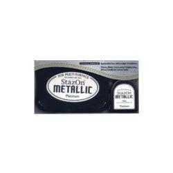 Stazon metallic ink pad & Reinker – Platin