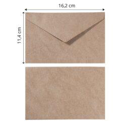 Kuvert 11,4×16,2 Kraft
