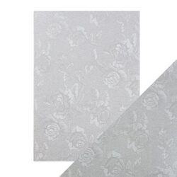 Craft Perfect – Luxury Embossed Card – Steel Toile – A4