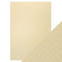Craft Perfect – Luxury Embossed Card – Champagne Harlequin – A4
