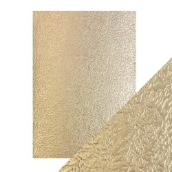 Craft Perfect – Luxury Embossed Card – Golden Glacier – A4