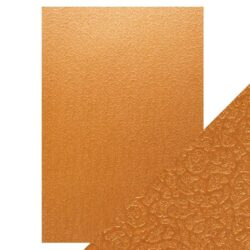 Craft Perfect – Luxury Embossed Card – Bronze Labyrinth – A4