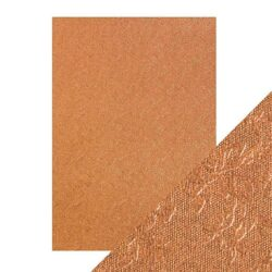 Craft Perfect – Luxury Embossed Card – Copper Rose – A4