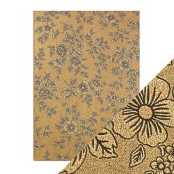 Craft Perfect – Luxury Embossed Card – Umber Etching – A4