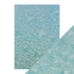 Craft Perfect – Luxury Embossed Card – Powder Blue Lace – A4