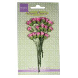 Marianne Design Små papir rosenknopper i hot pink