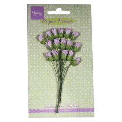 Marianne Design Små papir rosenknopper i lys lavendel