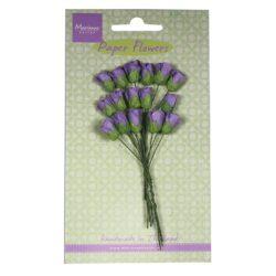 Marianne Design Små papir rosenknopper i mørk lavendel