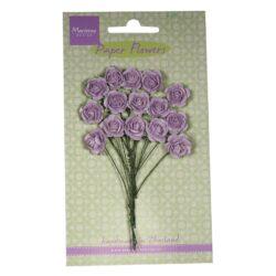Marianne Design Små papir roser i lys lavendel