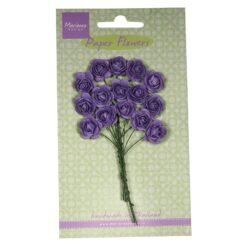 Marianne Design Små papir roser i mørk lavendel