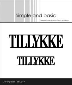 Simple and Basic die – Tillykke