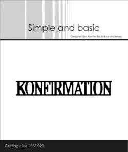 Simple and Basic die – Konfirmation