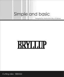 Simple and Basic die – Bryllup