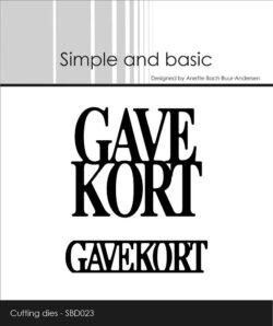 Simple and Basic die – Gavekort