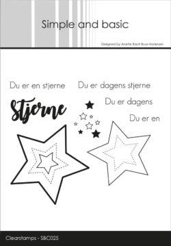 SIMPLE AND BASIC STEMPEL – Du er en stjerne