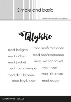SIMPLE AND BASIC STEMPEL – Tillykke
