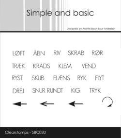 SIMPLE AND BASIC STEMPEL – Løft/Åben/Riv/Skrab