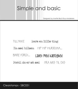 SIMPLE AND BASIC STEMPEL – Bare en lille ting