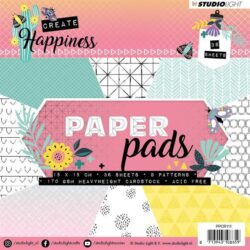 STUDIO LIGHT PAPER PAD – 15x15cm – PPCR111